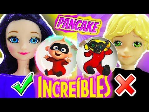 Pancake Art Challenge de Increibles 2 Bob Sponja y Minions | Marinette y Adrien