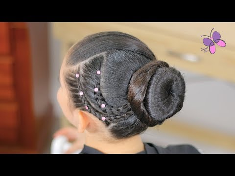 easy-elegant-hairstyle-with-braids-|-cute-hairstyles-|-hairstyles-for-girls