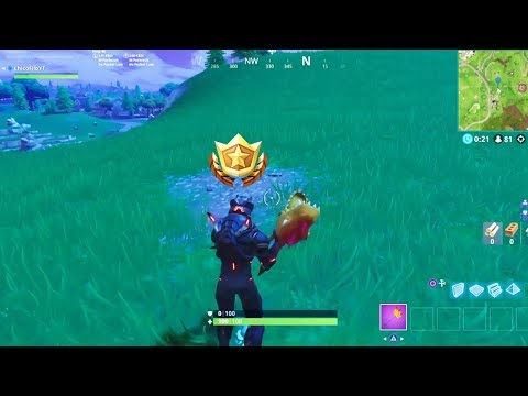 Search Between a Bear, Crater and Refrigerator Shipment Challenge LOCATION! - Week 8 FORTNITE BR