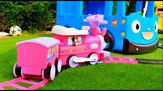 Wagon Ride on with Alex * Power Wheels Fun * Kids Song