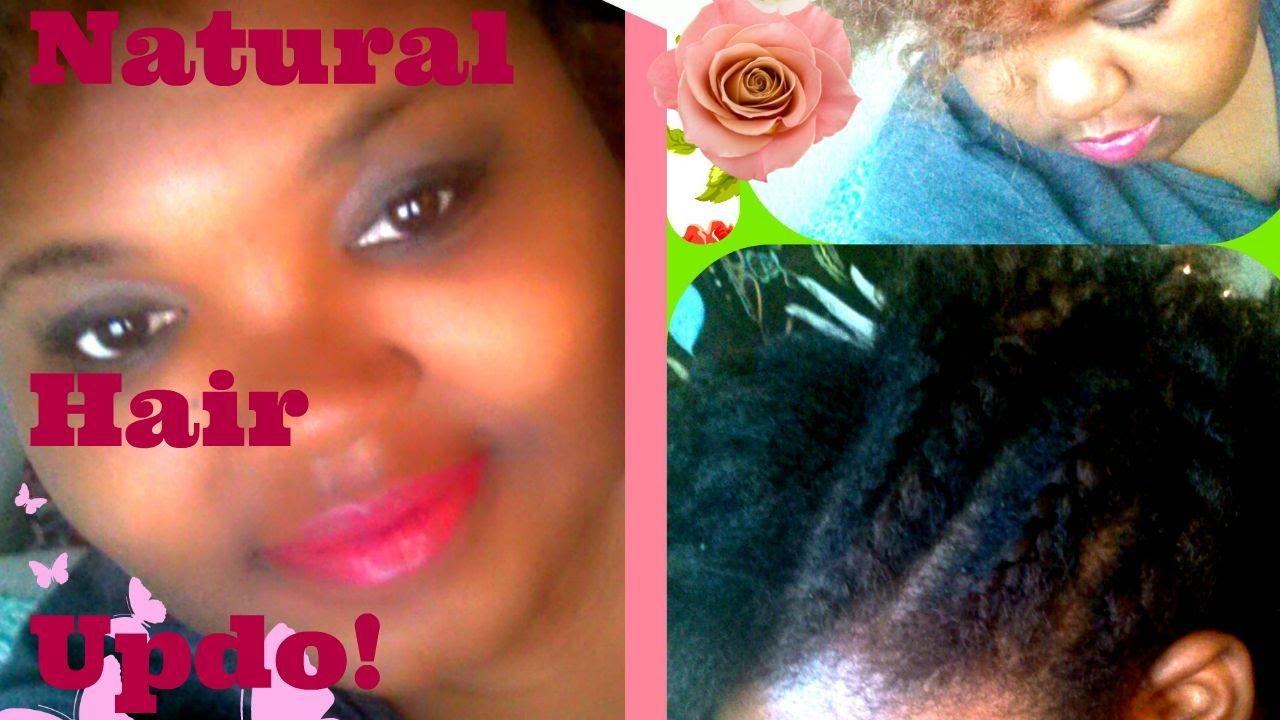 Natural 4c Hair Updo! - YouTube