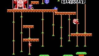 Donkey Kong Jr - ROUND TWO, GAME ONE: Foodperson(P2) vs. hooper(P1): Donkey Kong Jr (NES) - User video