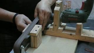 Fabrication d'une ponceuse à bande entrainée par une perceuse …. Kastepat