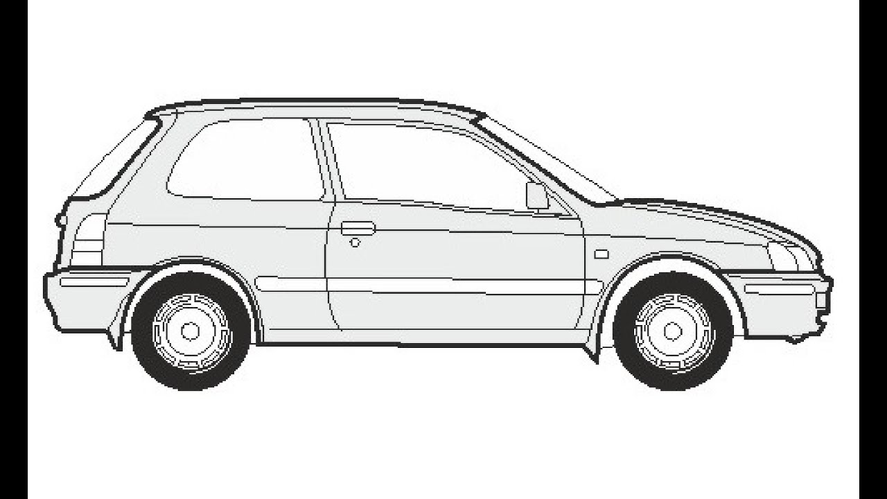 How to Draw a Toyota Starlet / Как нарисовать Toyota