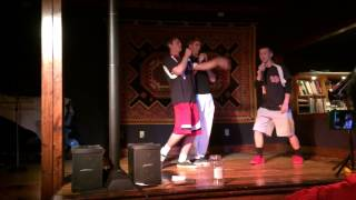 Chalky, Hunter, and Seth singing Wagon Wheel Karaoke