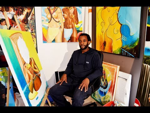 artiste peintre David MVULUBA  expose son Arts