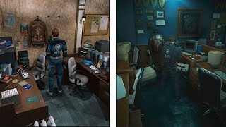 Resident Evil 2 | 1998 VS 2019 4K COMPARISON | Classic Camera Version