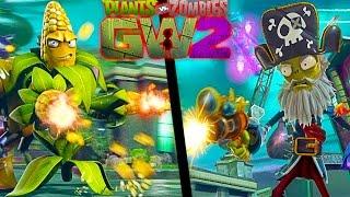Зомби против Растений видео для детей Большая битва с Боссами в смешной игре Plants vs Zombies GW 2