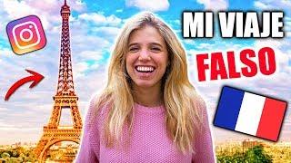 24 HORAS PUBLICANDO UNA VIDA FALSA EN INSTAGRAM (Mi viaje falso a París!!) | Laia Oli