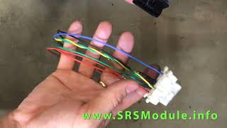 OBDII cable for reading SRS airbag module reset on table Crash removal review