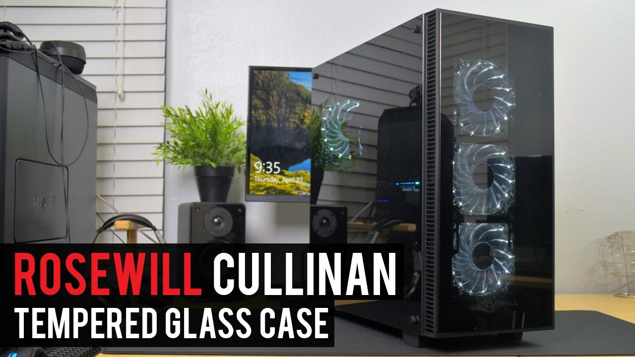 Tempered Glass Everywhere! Rosewill CULLINAN White PC Case Review