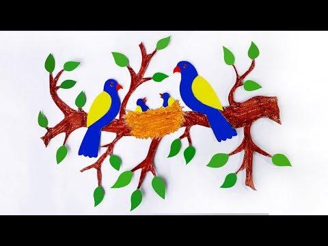 diy-paper-wall-art-|-wall-hanging-|-wall-decor-|-beautiful-wall-hanging-craft-ideas