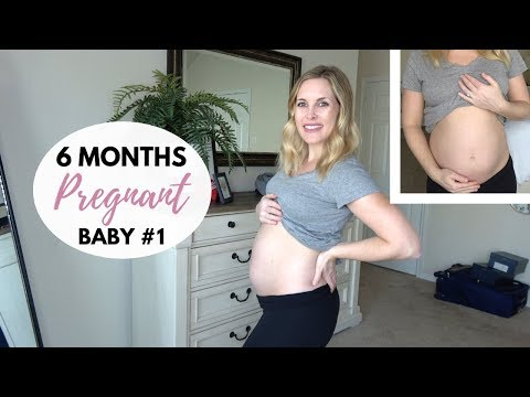6 MONTHS PREGNANT UPDATE | Anatomy scan, weight gain, belly shot