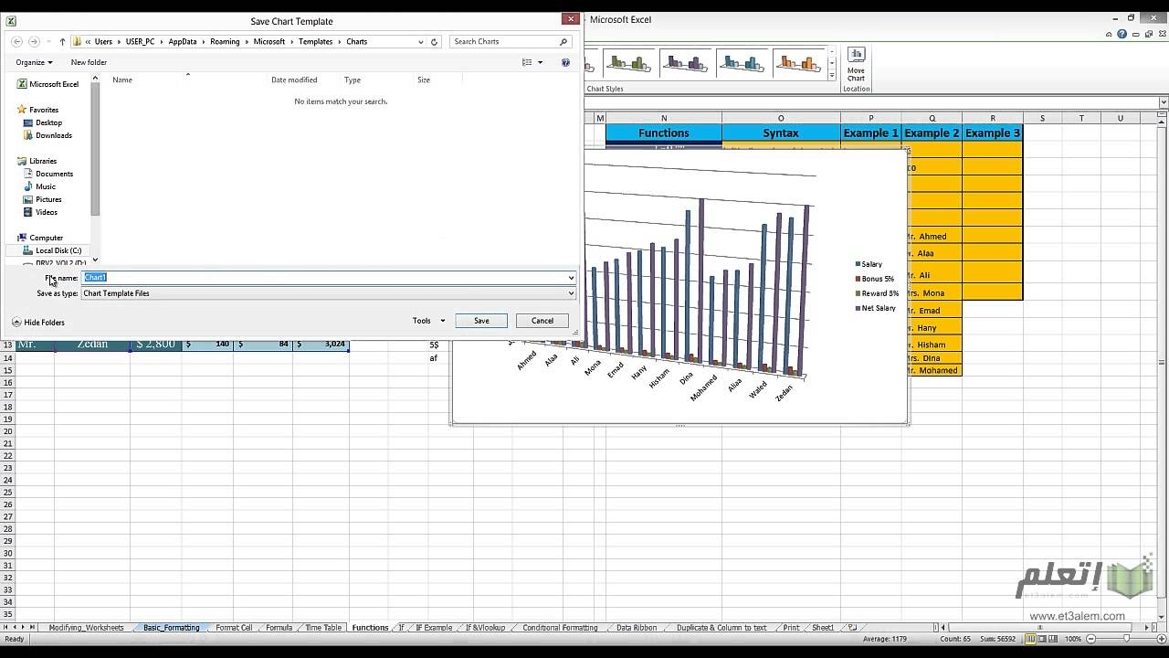 et3alem.com | Microsoft Excel 2010 .. Using charts
