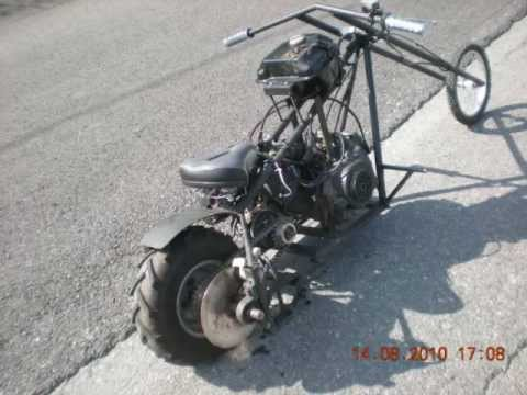 Homemade Mini Chopper Hydraulic Disc Brake 7 Hp Engine