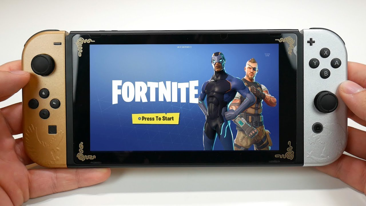 Fortnite On Nintendo Switch Gameplay Youtube