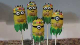 How To: Make Hawaiian Minions (cake Pops)