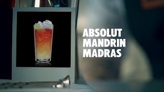 Absolut Mandrin Madras Drink Recipe - How To Mix