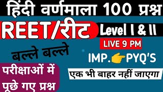 Reet Hindi Model हिंदी व्याकरण | REET 2020 | Reet Model Paper | वर्णमाला | Reet Exam syllabus