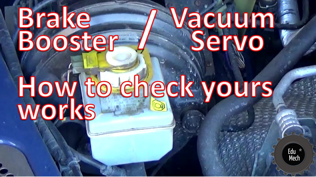 Simple brake booster  vacuum servo check  test your own