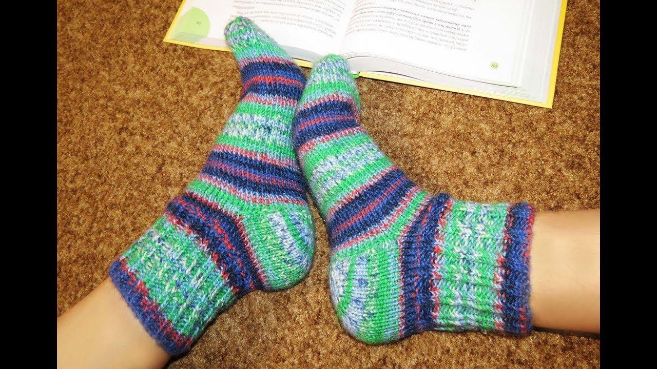 Носки на круговых спицах детские и взрослые. Socks for children and adults(Engl subtitles)
