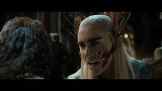Эльфы берут гномов в плен. Разговор Торина и Короля Трандуила. HD