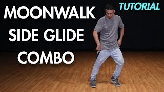 How to do the Moonwalk Side Glide Combo(Dance Moves Tutorial) | Mihran Kirakosian