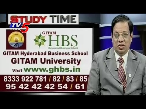Gitam Hyderabad Business School | Dr.Y.Lakshman Kumar | Study Time | TV5 News