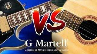 Acústica vs Eléctrica | Comparación Guitarra | Capsula G Martell