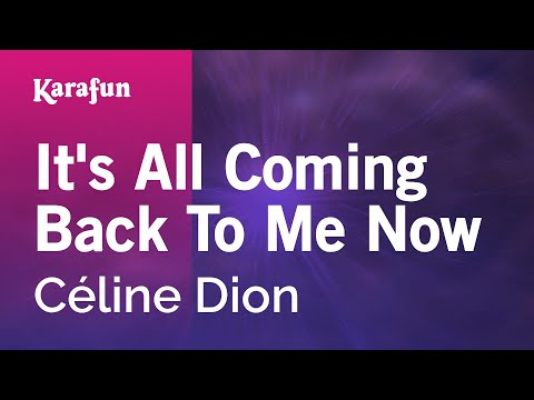 Karaoke It's All Coming Back To Me Now - Céline Dion *