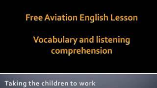 Aviation English lesson-air traffic control