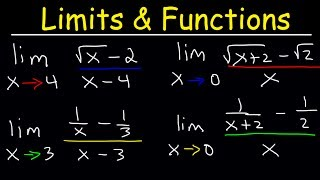 Limits of Rational Funcтions - Fractions and Square Roots