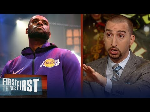 Nick Wright on LeBron calling himself the GOAT, Hardens 43-pt night | NBA | FIRST THINGS FIRST