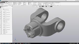 Быстрое создание модели Вилка в Компас 3D
