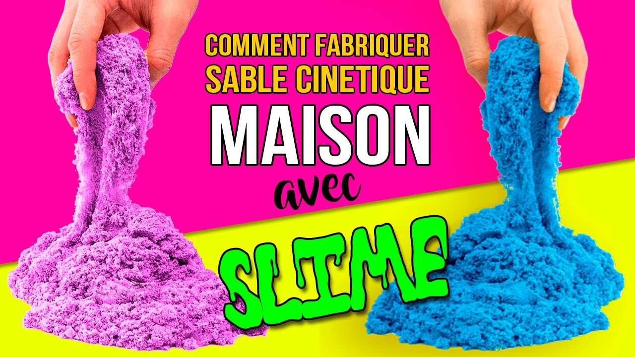 diy sable cinetique avec slime comment fabriquer du sable cinetique maison youtube. Black Bedroom Furniture Sets. Home Design Ideas