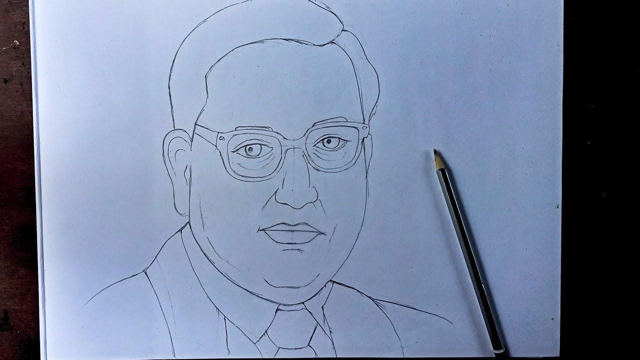 Download Dr babasaheb Ambedkar Drawing , Ambedkar Drawing , dr Ambedkar drawing , br Ambedkar drawing
