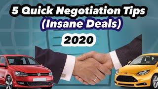 5 Quick Car Negotiation Tips 2020 (Insane Deal)