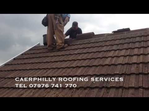 NEW TILE ROOF INSTALLED BY CAERPHILLY ROOFING SERVICES IN  TRETHOMAS BEDWAS CAERPHILLY