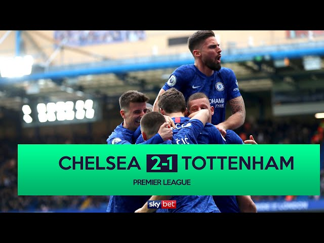 Chelsea 2-1 Tottenham | Lampard does the double over Mourinho
