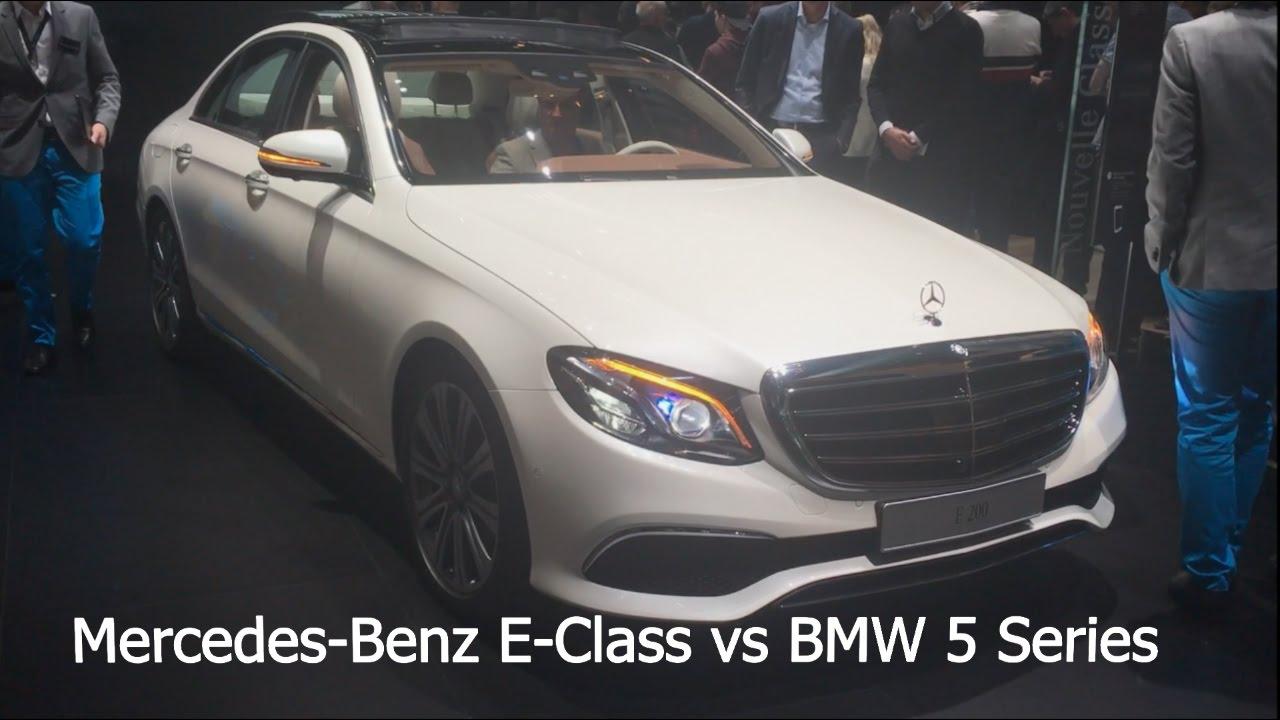 Mercedes benz e class 2017 vs bmw 5 series 2017 youtube for Mercedes benz e series 2017