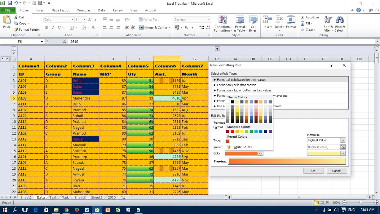 Highlight Cells Rules in Conditional Formatting   Excel