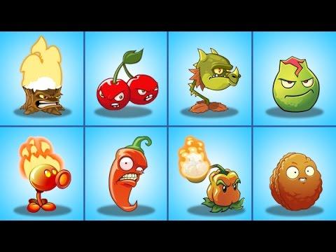 Plants Vs Zombies 2 Todas Las Plantas Del Juego En El Nivel Máximo