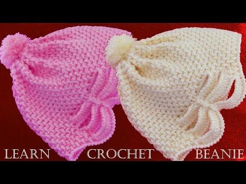 Como tejer gorro a Crochet o ganchillo en relieve  – Learn crochet beanie