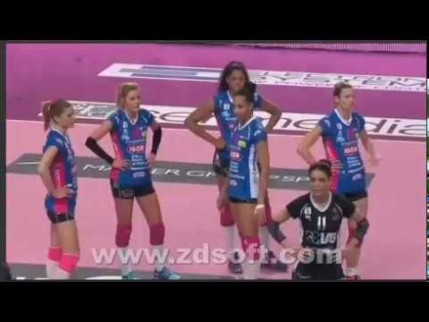 VOLLEYBALL- Novara W vs Monza W   - ITALY  Serie A1 Women 2017.02.26