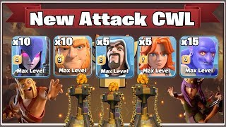 New Attack CWL 2018! Destroy 3 inferno TH12 War Base With New Troops Combo | Clash Of Clans