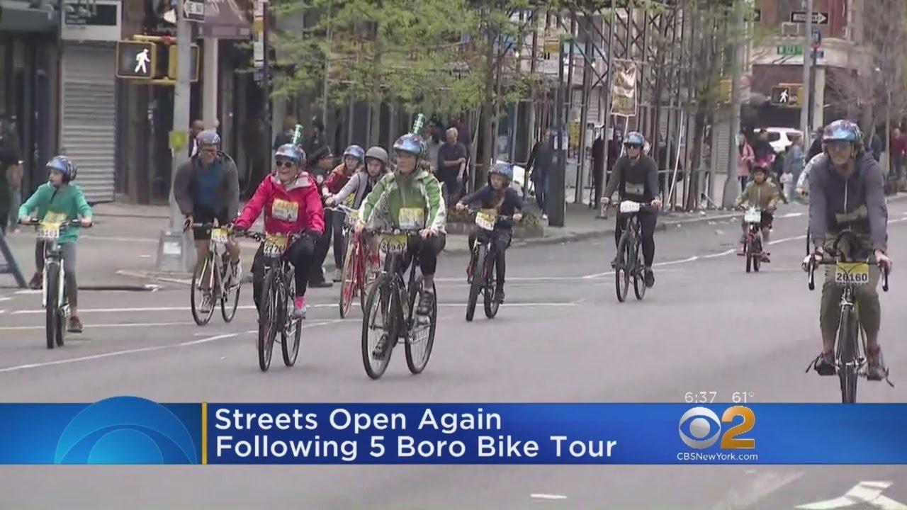 32000 Bicycles Take Part In 5 Boro Bike Tour