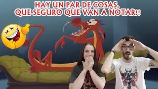 ESPAÑOLES REACCIONAN A DOBLAJE LATINO VS ESPAÑOL DE MUSHU/MULÁN #DISNEY #DOBLAJES