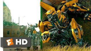 vuclip Transformers: The Last Knight (2017) - The Town Battle Scene (2/10) | Movieclips
