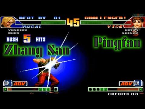 KoF 98 Combo Hack ► Pingfan vs Zhang San ► yzkof arcade emulator, 拳皇98 combo hack, kof98 plus, kof98