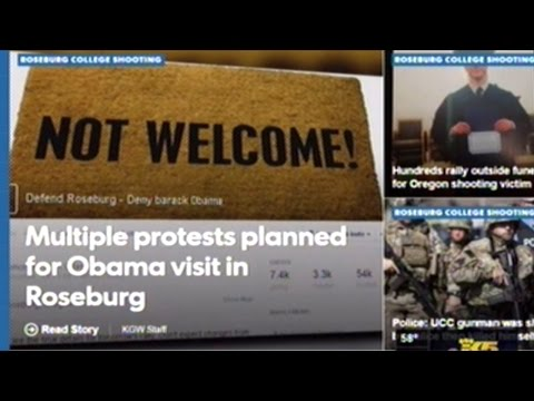 Multiple Protests Planned For Obama's Roseburg Oregon Visit Today!